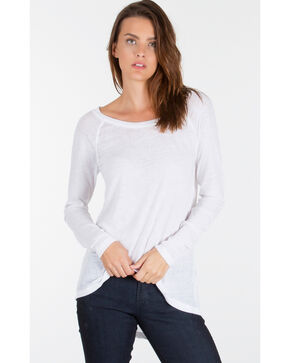 Z Supply Women's White Home Run Baseball Tee , White, hi-res