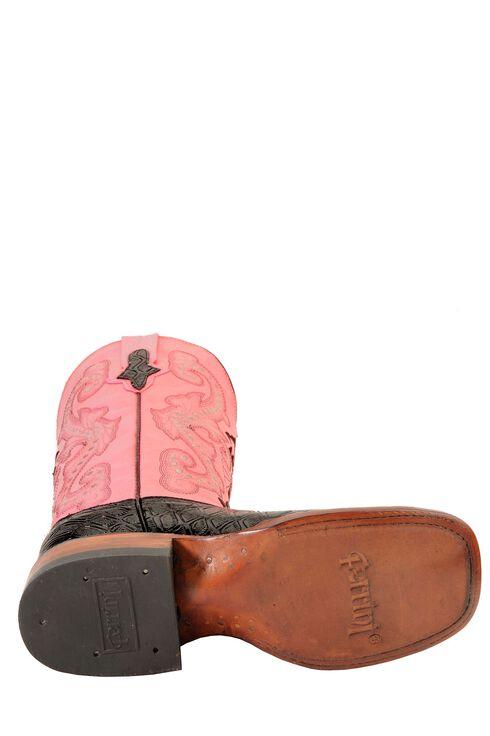 Ferrini Blush Pink Anteater Print Cowgirl Boots - Wide Square Toe, Black, hi-res