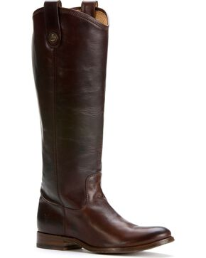 Frye Women's Melissa Button Riding Boots, Dark Brown, hi-res