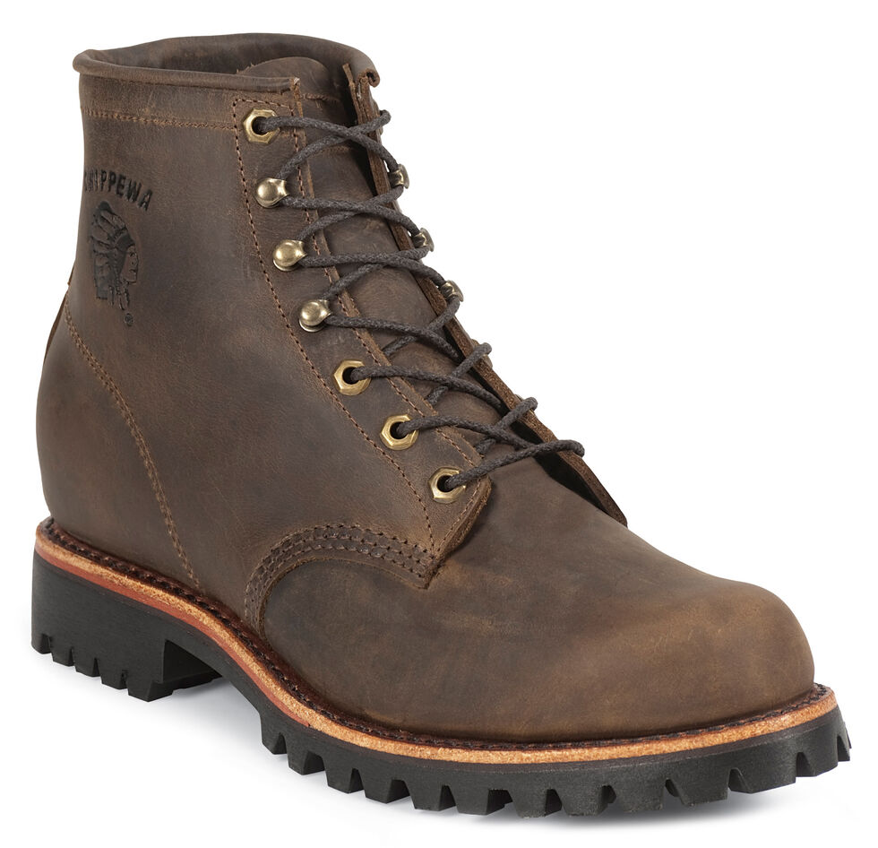 """Chippewa Bay Apache 6"""" Lace-Up Work Boots - Steel Toe, Apache Tan, hi-res"""