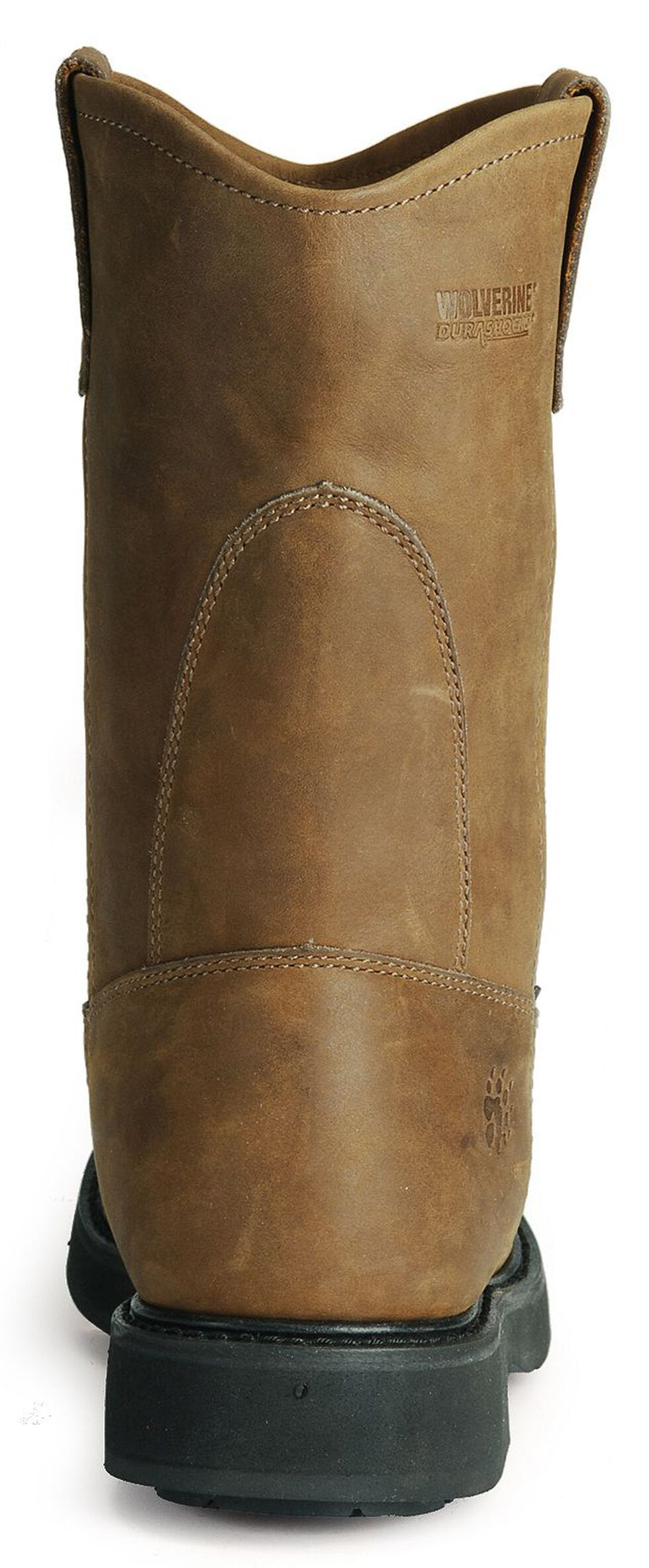 Wolverine Ingham DuraShocks Wellington Work Boots - Round Toe, Dark Brown, hi-res