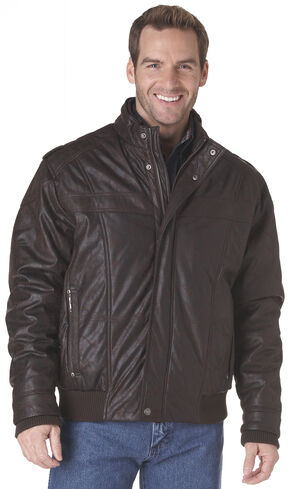 Cripple Creek Zip-Front PVC Jacket - Brown, Dark Brown, hi-res