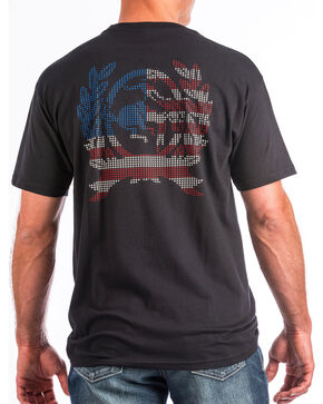 Cinch Men's Flag Logo Short Sleeve Tee, Black, hi-res