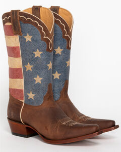 Shyanne Women's American Flag Cowgirl Boots - Snip Toe, , hi-res