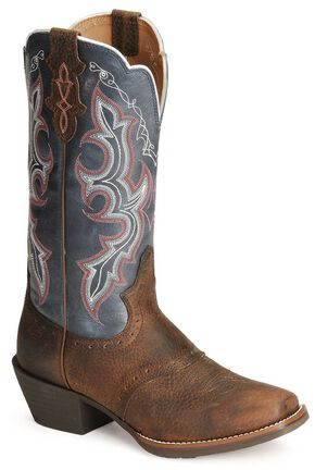 Justin Stampede Punchy Cowgirl Boots, Dark Brown, hi-res