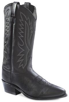 Old West Men's Black Polanil Western Cowboy Boots - Medium Toe, , hi-res
