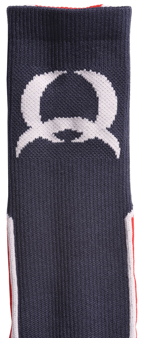 Cinch Men's Blue and Red Crew Socks , Navy, hi-res