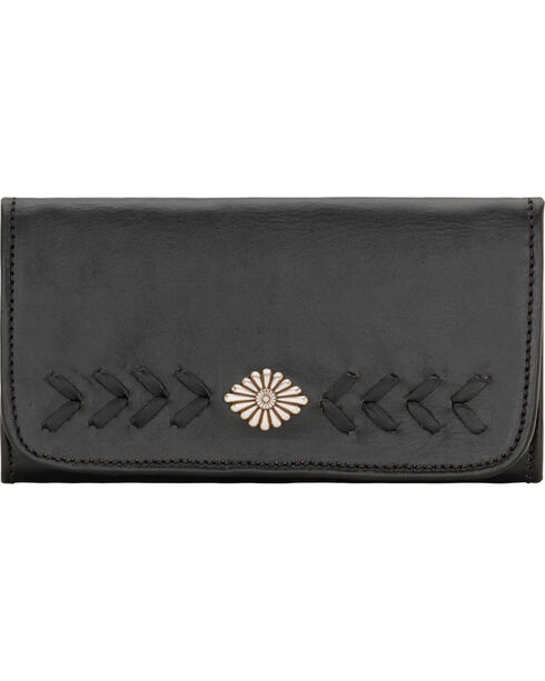 American West Mohave Canyon Ladies' Black Tri-Fold Wallet, Black, hi-res