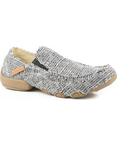 Roper Men's Grey Dougie Casual Driving Moc Shoes , Grey, hi-res