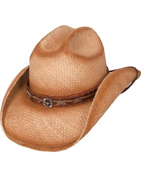Bullhide Trail Boss Straw Cowgirl Hat, Natural, hi-res