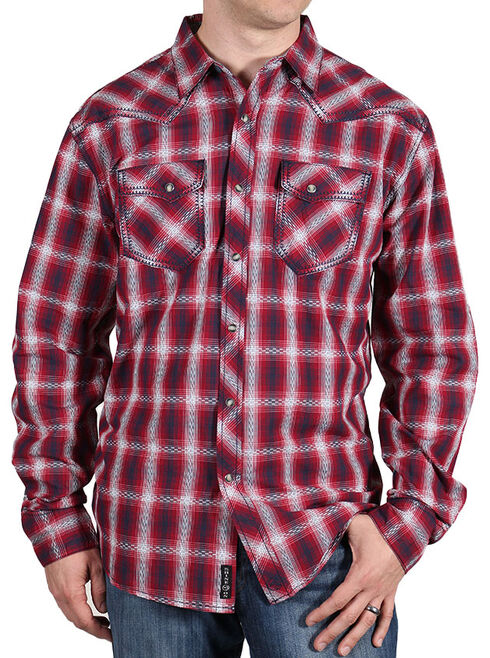 Moonshine Spirit Men's Red Dirt Long Sleeve Western Shirt , White, hi-res