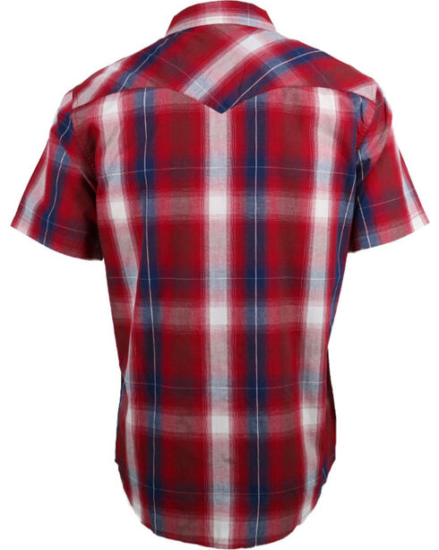 Levi's Men's Plaid Short Sleeve Western Shirt, Red, hi-res