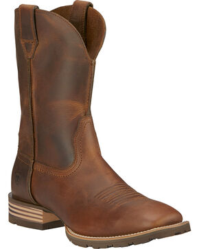 Ariat Hybrid Street Side Cowboy Boots - Square Toe, Brown, hi-res