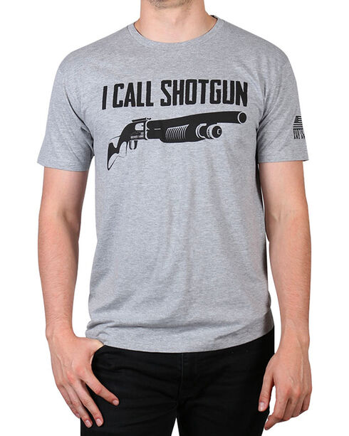 Brothers & Arms Men's Charcoal I Call Shotgun Tee , Charcoal, hi-res