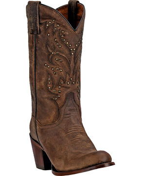 Dan Post Melba Bay Apache Cowgirl Boots - Round Toe, Bay Apache, hi-res