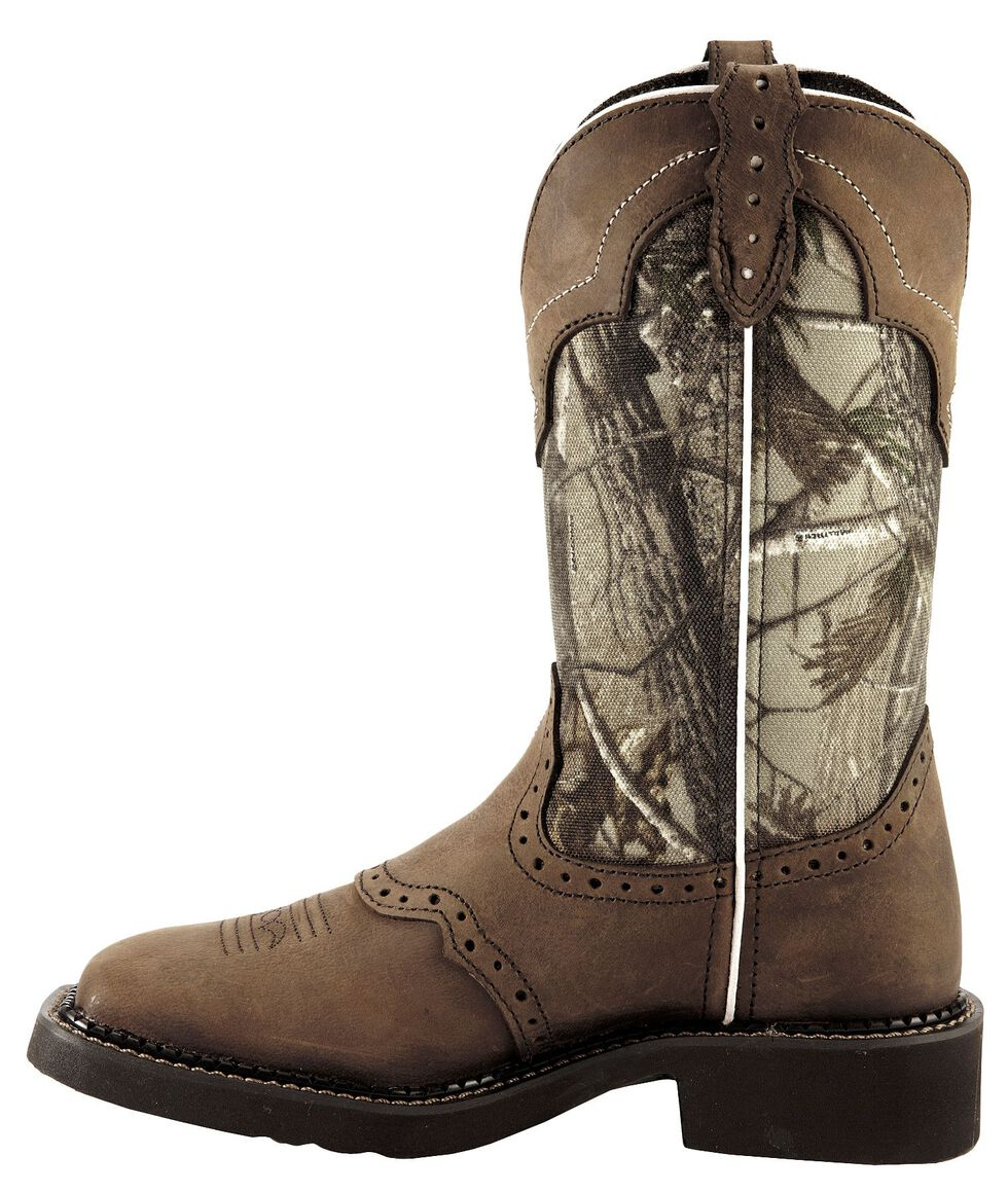 Justin Gypsy Women's Raya Camo Cowgirl Boots - Square Toe, Aged Bark, hi-res
