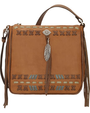 American West Mohican Melody Collection Crossbody Bag, Tan, hi-res