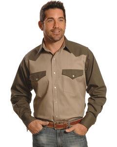 Crazy Cowboy Men's Two-Tone Western Work Shirt , , hi-res