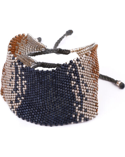 Kutula Kiss Women's Large Coachella Chaos Bracelet , Indigo, hi-res