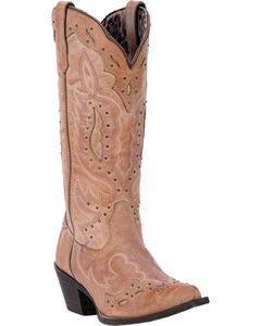 Laredo Women's Brown Presley Western Boots - Snip Toe , , hi-res