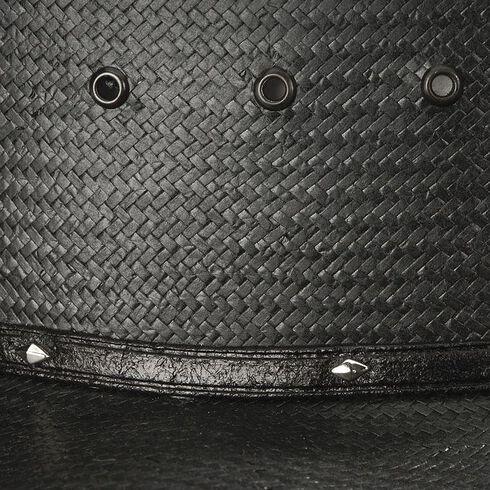 Stetson Stallion Bullock Black Straw Shapeable Cowboy Hat, Black, hi-res