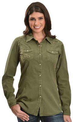 Ariat Maya Long Sleeve Top, Olive, hi-res