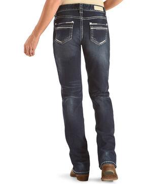 Rock & Roll Cowgirl Women's Blue Boyfriend Jeans - Boot Cut , Dark Blue, hi-res