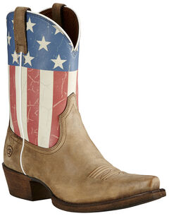 Ariat Old Glory Flag Cowgirl Boots - Snip Toe , , hi-res