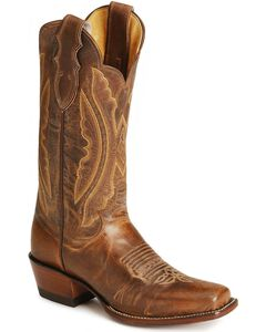 Justin Vintage Goatskin Cowgirl Boots, Tan, hi-res