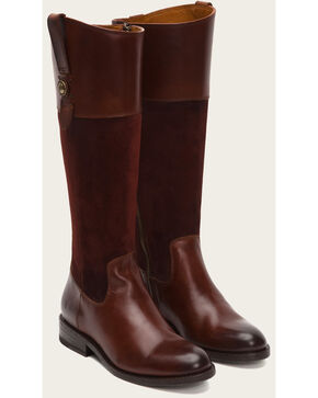Frye Women's Redwood Jayden Button Tall Boots , Dark Brown, hi-res