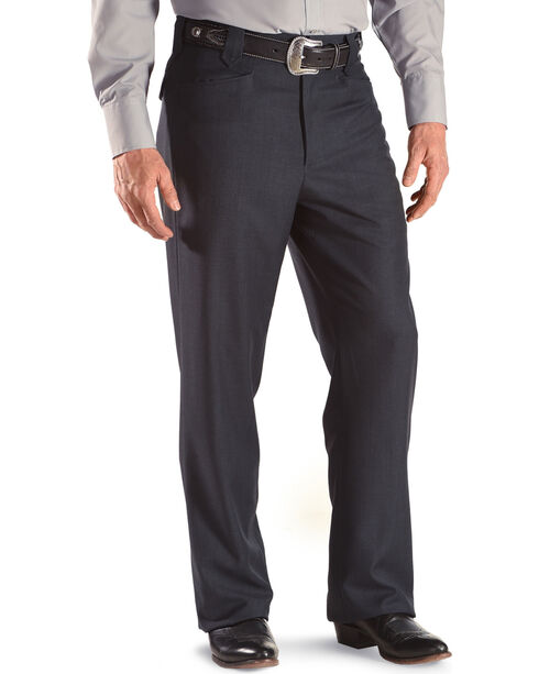 Circle S Men's Navy Ranch Dress Pants, Navy, hi-res