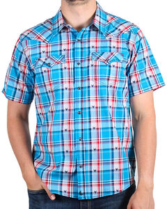 Cody James Men's Bushwacker Short Sleeve Shirt, Royal Blue, hi-res
