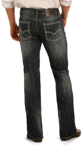 Rock & Roll Cowboy Indigo Pistol Multi-Stitching Jeans - Boot Cut, Indigo, hi-res