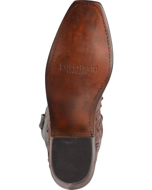 Lucchese Women's Tan Dolly Full Quill Ostrich Western Boots - Square Toe, Tan, hi-res