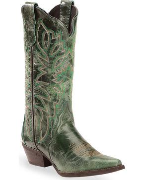 Laredo Turquoise Leeza Cowgirl Boots - Snip Toe, Turquoise, hi-res