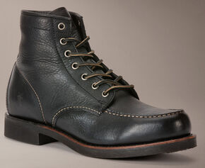 Frye Arkansas Moc Toe Boots, Black, hi-res