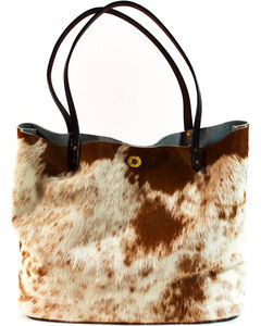 SouthLife Supply Women's Cowhide Square Tote, Multi, hi-res