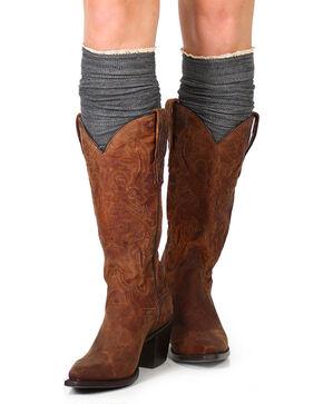 Shyanne Women's Knee-High Boot Socks, Charcoal, hi-res