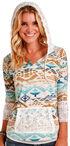 Panhandle Slim Women's Mulit Aztec Print Hoodie , Multi, hi-res
