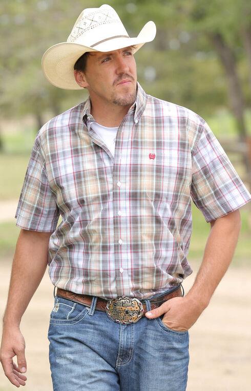 Cinch Men's Multi Plain Weave Short Sleeve Shirt , Multi, hi-res