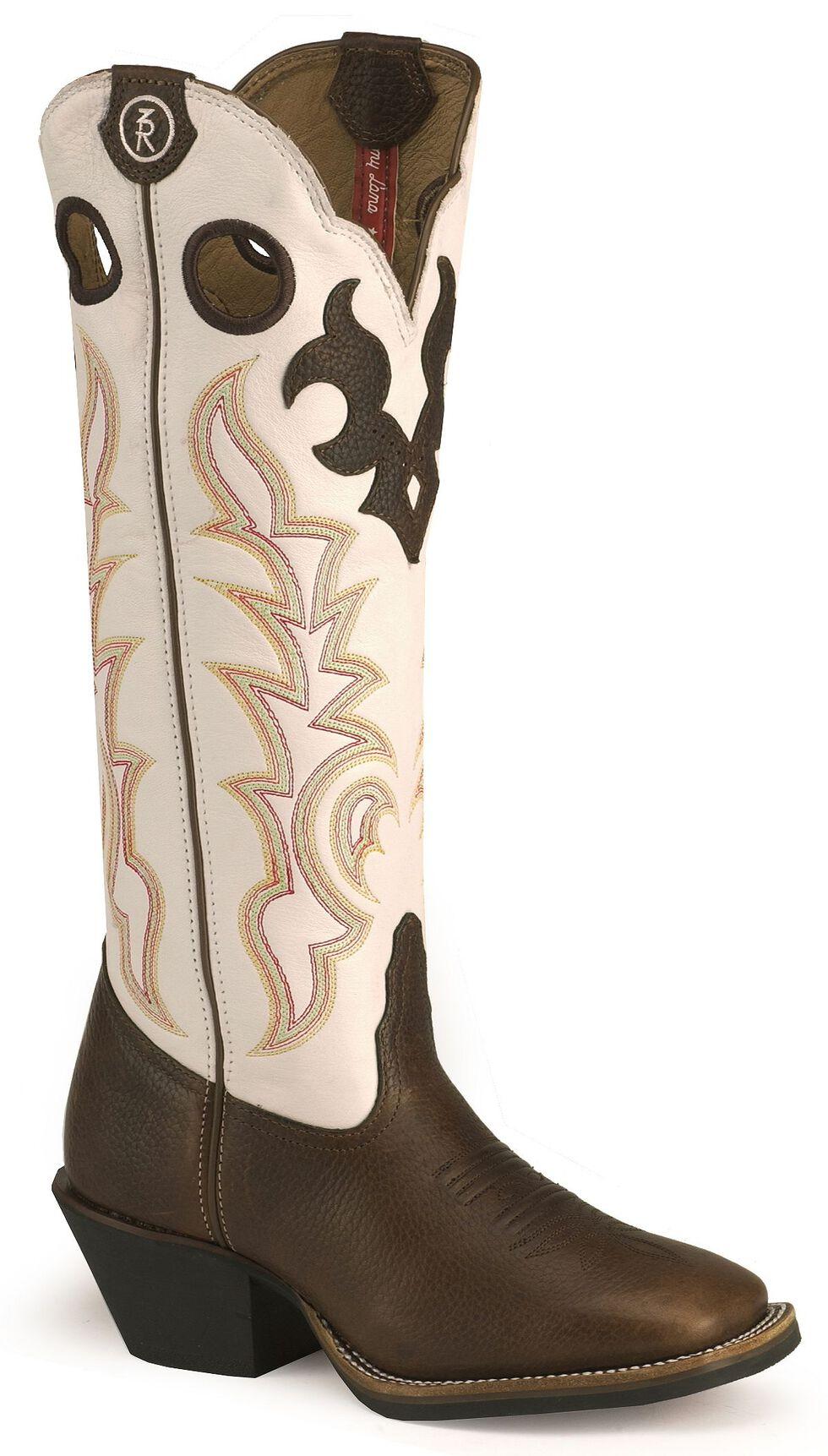 Tony Lama 3R Series Buckaroo Boots - Square Toe, Dark Brown, hi-res