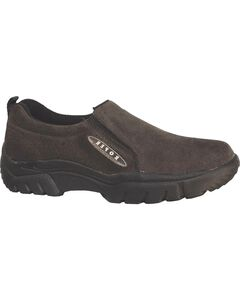 Roper Performance Wide Width Suede Slip-On Shoes - Round Toe, , hi-res