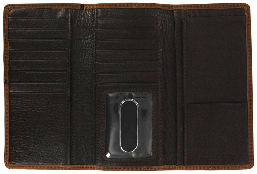 Cody James Men's Leather Tri-fold Wallet, Brown, hi-res