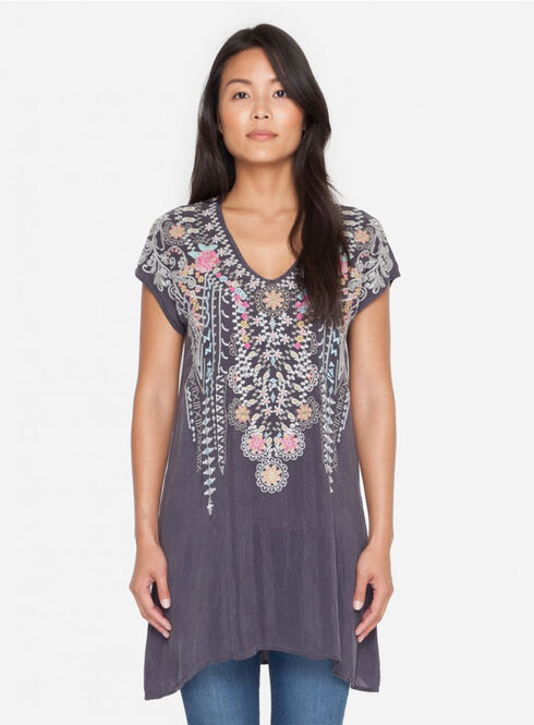 Johnny Was Women's Grey Onyx Karineh Tunic, Grey, hi-res