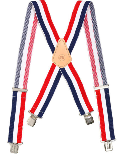 American Worker® Men's Suspenders , Red/white/blue, hi-res