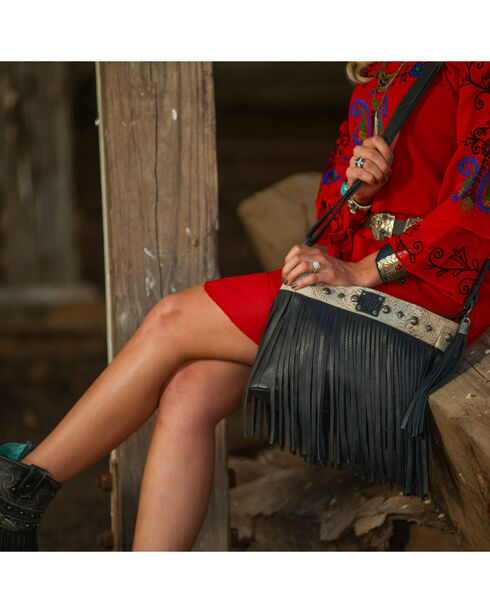 STS Ranchwear by Carroll Women's Lila Crossbody Bag , Black, hi-res