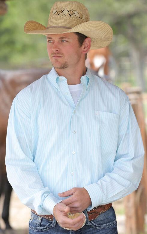 Cinch Men's Light Blue Button Down Shirt, Light Blue, hi-res