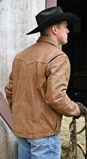 STS Ranchwear Men's Vegas Buckskin Leather Jacket - Big & Tall - 4XL, Buckskin, hi-res