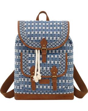 Bandana by American West Navy Santa Fe Drawstring Backpack, Navy, hi-res