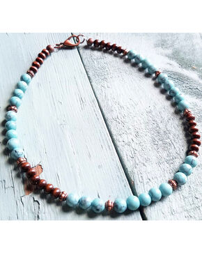 Jewelry Junkie Women's Turquoise Choker , Turquoise, hi-res